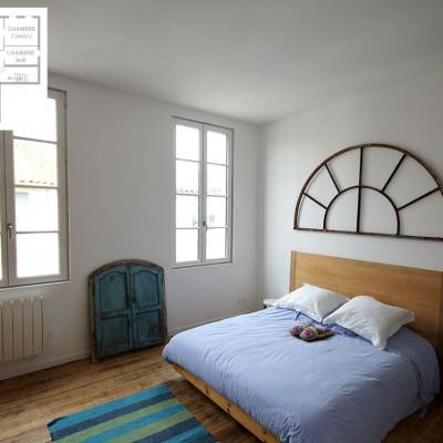 Une des plus belles chambres de la maison Fabel.
