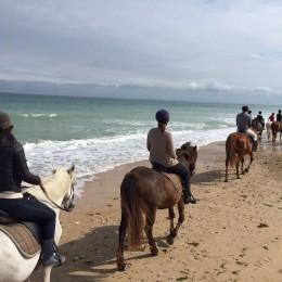 Balade à cheval sur la plage de la Conche