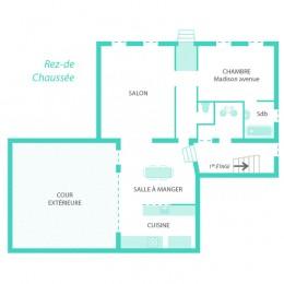 Plan du rez-de-chaussée de la maison Fabel