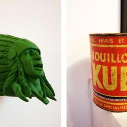 Indien d'une boutique des Batignolles (Chambre Comics)  & Une boite ancienne avec sa forme cylindrique originale. Elle vient d'une demeure de famille : Frejefont dans le Tarn
