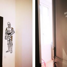 C3-PO garde la chambre Jedi & Stickers sur chaque porte
