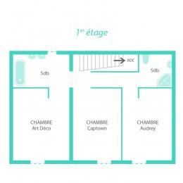 Plan du 1er étage de la maison Ispagne